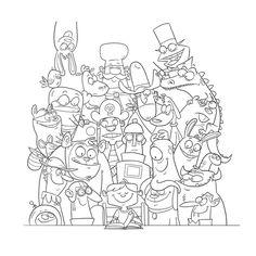 Storybook Gang - Sketch by Paul Gill, via Behance
