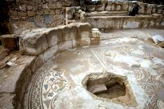 Mosaic of ancient Byzantine Church -