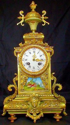 Great Important Antique French Bronze Sevres Porcelain Clock C1880 | eBay