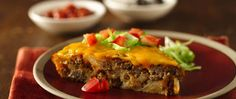 This super-easy taco pie will be a weeknight family favorite. Swap out GF Bisquick, add a little guacamole asking with the door cream and green onions and this is a winner.