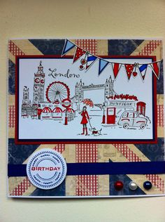 Penny Black London Stamped card
