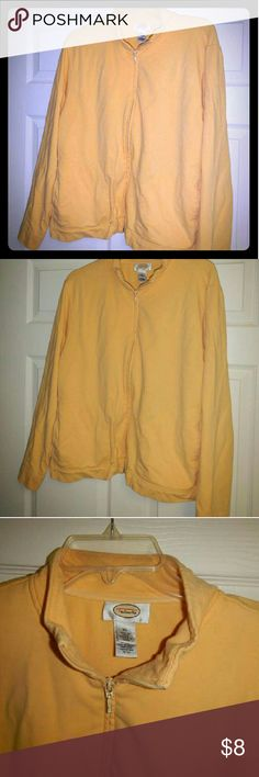 Talbots Jacket Talbot's lightweight zip jacket.  Buttercup color in very soft knit.  Slight stretch to the material. Talbots Jackets & Coats