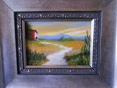 Evening Sky - Original ACEO Oil Painting   175.00