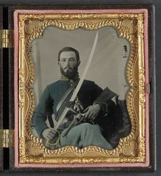 Union Calvary Member #Civil War  Daguerreotype
