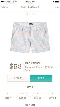 Dear John Finnegan Printed Cuffed Shorts I love Stitch Fix! Personalized styling service and it's amazing!! Fill out a style profile with sizing and preferences. Then your very own stylist selects 5 pieces to send to you to try out at home. Keep what you love and return what you don't. Try it out using the link! #stitchfix https://www.stitchfix.com/referral/5634870
