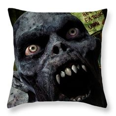Vector Throw Pillows - Creep Throw Pillow by Todd and candice Dailey