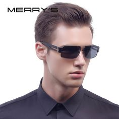 MERRY'S Fashion Aluminum Polarized Sunglasses Men Classic Brand Sun glasses EMI Defending Coating Lens Driving Shades S'8452