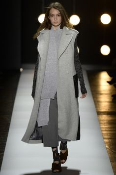 BCBG Max Azria - No more complaints about runway looks that aren't warm enough. This looks seriously cosy and the different grey shades make it look really elegant.