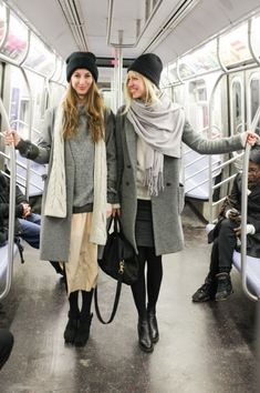 Subway stye, in grey. Nice layering.