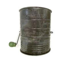 Vintage Bromwell Flour Sifter Metal with by MerrilyVerilyVintage, $11.00