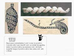 damami: Acabamento simples / ponto sombra Crochet World, Crochet Diy, Crochet Flower Tutorial, Freeform Crochet, Crochet Motif, Crochet Collar Pattern, Crochet Bikini Pattern, Crochet Stitches Patterns, Crochet Diagram