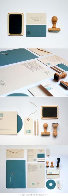 Identity / Corporate design letterhead letter business card logo envelop colors graphic minimal stamp