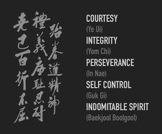 I'm thinking of getting a tattoo of indomitable spirit in Korean to commemorate getting my black belt next year.