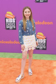 Ella Anderson at Nickelodeon Kids' Choice Sports Awards 2017 Kids Choice Sports Awards, Ella Anderson, Nickelodeon Girls, Disney, Awards 2017, Aiko, Little Sisters, American Actress, Baby Dress