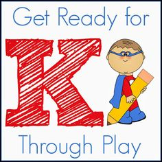 8 week series from 5 bloggers with weekly ideas to help you get your child ready for Kindergarten through PLAY!