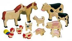 Image result for simple wooden toy animals