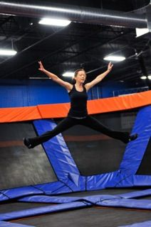 Sky Zone | Indoor Trampoline Park - SkyRobics--such a fun work out and you really do sweat and feel the burn.