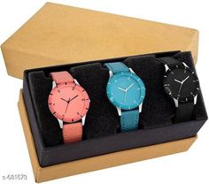 Watches Stylish Women's Watch (Set Of 3)  Material: Synthetic Leather Size: Free Size Description: It Has 3 Pieces Of Watches Country of Origin: India Sizes Available: Free Size *Proof of Safe Delivery! Click to know on Safety Standards of Delivery Partners- https://ltl.sh/y_nZrAV3  Catalog Rating: ★4 (4322)  Catalog Name: Free Gift Clalssy Ladies Watches Combo Vol 1 CatalogID_77323 C72-SC1087 Code: 513-681573-