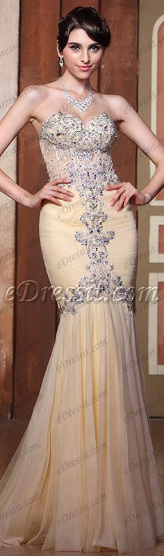 Sparkling beaded bodice prom dress! #edressit #dress #evening_dress #prom_dress