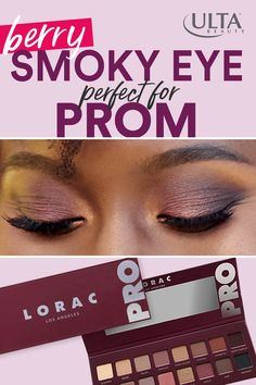 Purple and berry shades mixed with subtle neutrals is the perfect way to stand out this prom season! Create an easy, but dramatic, smoky eyeshadow look that perfectly flatters any eye color. Wedding Makeup For Brown Eyes, Blue Eye Makeup, Skin Makeup, Dramatic Makeup, Dramatic Eyes, Winter Beauty Tips, Beauty Tips For Face, Beauty Hacks, Smoky Eyeshadow