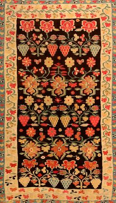 View this item and discover similar for sale at - Antique Bessarabian Kilim Rug, Origin: Romania, Circa: Late Century – Size: 4 ft 8 in x 8 ft 2 in m x m) This gorgeous antique rug — an Wool Area Rugs, Beige Area Rugs, Pastel Red, Modern Rugs, Woven Rug, Kilim Rugs, Rugs On Carpet, Bohemian Rug, Tapestry