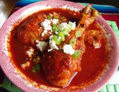 Chilate de Pollo (Braised Chicken in a Spicy Guajillo Broth) | Hispanic Kitchen