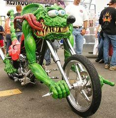#MATCO #tools #RatFink #green #demon #custom #motorcycle    #LetsGetWordy