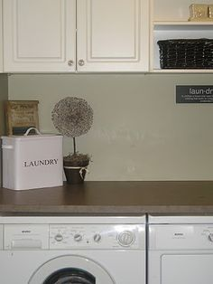Love the counter top on top of washer and dryer