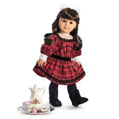 Samantha's Christmas Holiday dress American Girl doll