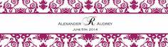 Water Bottle Labels.  Printable Damask Wedding Invitation Kits: Burgundy Wine