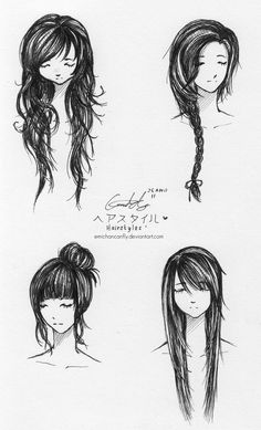 hair style drawing - Buscar con Google