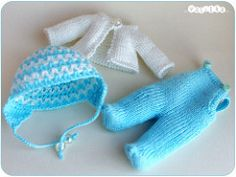 crawlers, hat and jacket for baby boy (_vasilka_) Tags: sky baby white doll handmade nappy crochet knit clothes choo