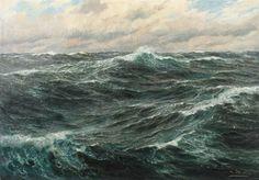 Landscape Concept, Fantasy Landscape, Landscape Art, Landscape Paintings, Landscapes, Ocean Wave Painting, Ocean Art, Stürmische See, Wave Drawing