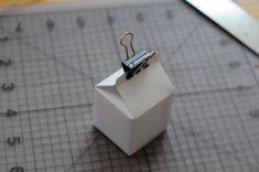 Mini milk carton - gift boxes (template)