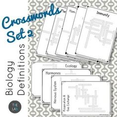 Medium difficulty crossword puzzles to print and solve volume 26 biology crossword bundle set 2 malvernweather Image collections