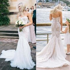 2016 Berta Sexy Summer Beach Mermaid Wedding Dresses Sweetheart 3d Floral Appliques Full Lace Bridal Gowns Backless Sleeveless Wedding Dress Sexy Wedding Dresses Wedding Gown From Weddingplanning, $105.45| Dhgate.Com