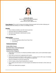 Example Of Resume Objective Resume Templates Resume Examples Objectives, Gallery Example Of Resume Objective Resume Templates Resume Examples Objectives with total of image about 16472 at Best Resume and CV Inspiration Career Objective Examples, Basic Resume Examples, Resume Objective Sample, Resume Objective Statement, Work Objectives, Career Objectives For Resume, Resume Writing, Essay Writing, Ideas