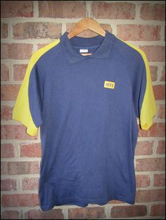 Vintage 80's Nike Blue Tag Collared Shirt  by CharchaicVintage, $20.00