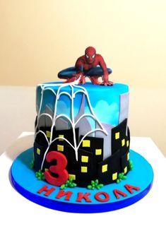 Spiderman Cake Ideas for Little Super Heroes - Novelty Birthday Cakes Spiderman Cake Topper, Spiderman Birthday Cake, Batman Cakes, Superhero Cake, Spiderman Theme, Novelty Birthday Cakes, Birthday Cakes For Men, Ben Y Holly, Slab Cake