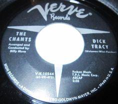 1961 Doo Wop 45 Rpm The Chants DICK TRACY / CHOO CHOO On Verve 10244