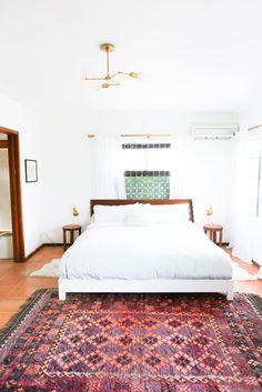 See more images from the best bedrooms of 2015 on domino.com// Fantastic rug!!