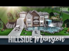♡ Hillside Retreat anyone? Building A Kitchen, Home Building Design, Building A House, Cheap Mansions, Two Story House Design, Modern Family House, House Plans With Pictures, Hillside House, Cheap Houses