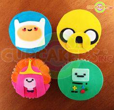 Adventure time Cupcakes Adventure Time Cupcakes, Cake Pops, Adventure Time Quotes, Fondant Cupcake Toppers, Birthday Parties, Birthday Cakes, Birthday Ideas, Fun Cupcakes, Sugar Cookies