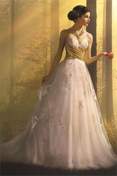 0a58e81d20b Snow White from Alfred Angelo Disney Fairy Tale Weddings Bridal Collection  Disney Wedding Gowns