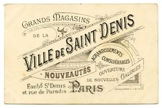 Vintage French Graphic - Amazing Paris Ephemera