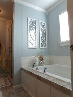 behr provence blue bathroom   Behr Light French Gray