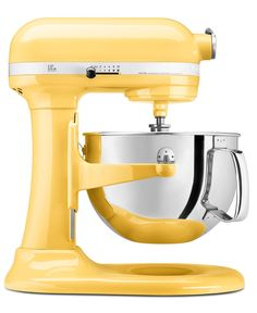 KitchenAid KP26M1X Stand Mixer, 6 Qt. Professional 600 in sunny yellow.