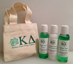 NEW!  Custom Sorority Shower Tote with Shampoo, Conditioner and Shower Gel! $10.00  There are 37 different sororities to chose from! Soon to be available at www.jbgreek.com