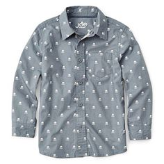 Joe Fresh™ Long-Sleeve Skull Print Shirt - Boys 4-14 - jcpenney