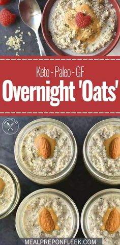 Keto Overnight 'Oats' - Made with hemp hearts is an easy make ahead brea. - Keto tarifleri - En Pratik ve Kolay Yemek Tarifleri Keto Diet Breakfast, Make Ahead Breakfast, Breakfast Recipes, Breakfast Ideas, Breakfast Sandwiches, Vegetarian Keto, Vegan Keto, Overnight Oats, Omega 3